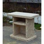 Стіл приставної для садового каміна - барбекю