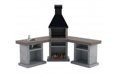 Садовый камин - барбекю Stimex Crasia BMU комплект