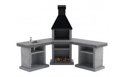 Садовый камин - барбекю Stimex Crasia BPU комплект