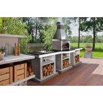 Садовый камин - барбекю Stimex Steel BLF комплект