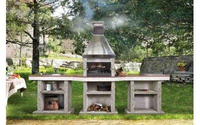 Садовый камин - барбекю Stimex Steel BMF комплект
