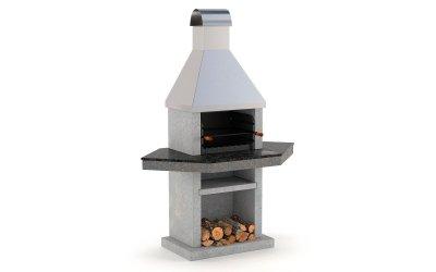 Садовый камин - барбекю Stimex Steel BLU