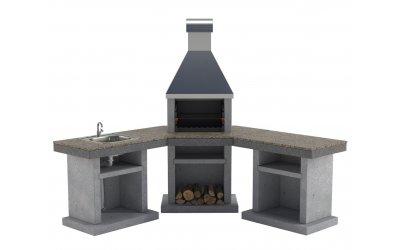 Садовый камин - барбекю Stimex Steel BMU комплект