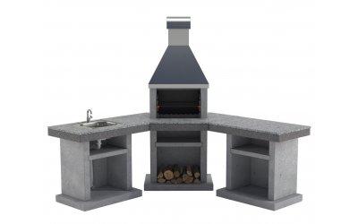 Садовый камин - барбекю Stimex Steel BPU комплект