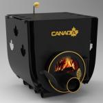 Отопительно - варочная печь - булерьян Canada classic 01 (Канада классик 01) со стеклом и  защитным кожухом