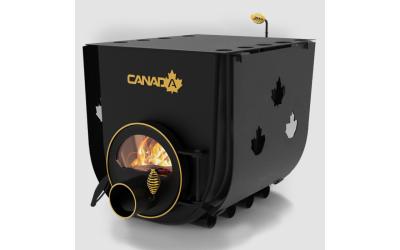 Опалювально - варочна піч - булерьян Canada classic 02 (Канада класик 02) зі склом та захисним кожухом