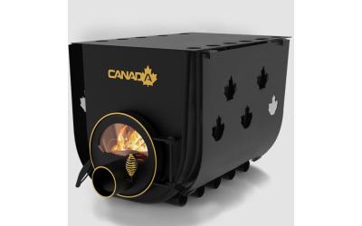 Опалювально - варочна піч - булерьян Canada classic 03 (Канада класик 03) зі склом та захисним кожухом