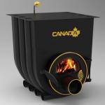 Отопительно - варочная печь - булерьян Canada classic 00 (Канада классик 00) со стеклом