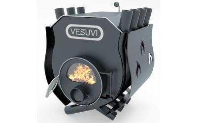 Отопительно - варочная печь - булерьян Vesuvi classic 01 (Везувий классик 01) со стеклом и  защитным кожухом