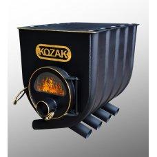 Отопительно - варочная печь - булерьян Kozak 02 (Козак 02) со стеклом
