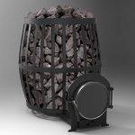Печь для бани ( сауны ) Бочка 20 м³ с выносом