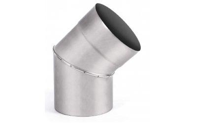 Коліно для димаря 45 з нержавіючої сталі марки AISI 201 ф300(0,8мм)