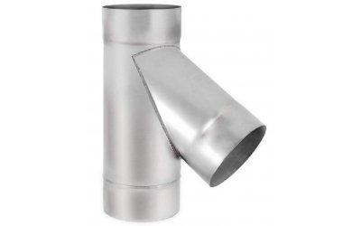 Трійник для димоходу 45 з нержавіючої сталі марки AISI 201 Ф400(1мм)