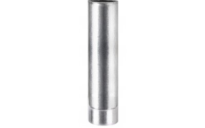 Труба сендвич для дымохода из нержавеющей стали в оцинкованном кожухе AISI 201 Ф130/200L-1м